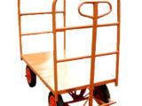 CÓD. 46 – Carrinho Plataforma 1.50×0.80×0.30cm C/ 02 Abas C/ Rodas Pneumáticas 3.50×8