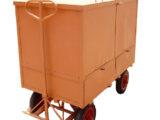 CÓD. 20 – Carrinho Plataforma Reforçado Baú 1.50×0.80×0.90cm C/ Rodas Pneumáticas 3.50×8